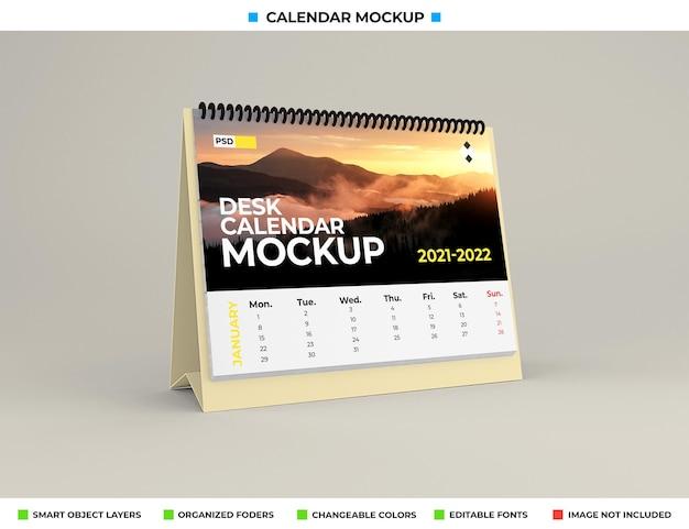 Maquete de calendário de mesa isolada Psd Premium