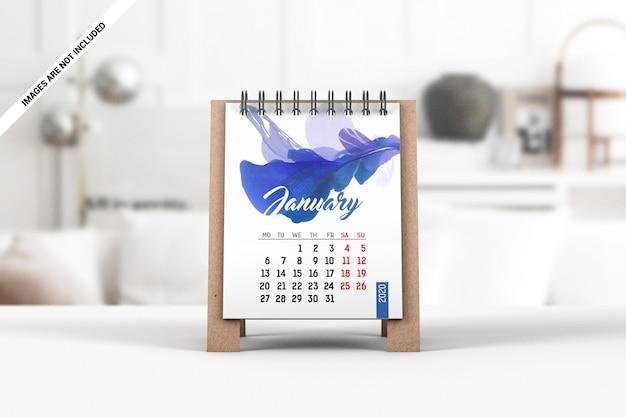 Maquete de calendário de mesa mini Psd Premium