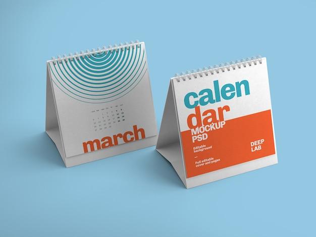Maquete de calendário de mesa quadrada Psd Premium
