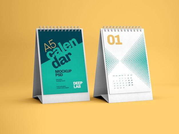 Maquete de calendário de mesa vertical Psd Premium