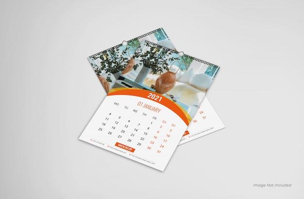 Maquete de calendário de parede, maquete de calendário Psd Premium