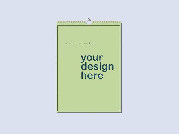 Maquete de calendário de parede Psd Premium
