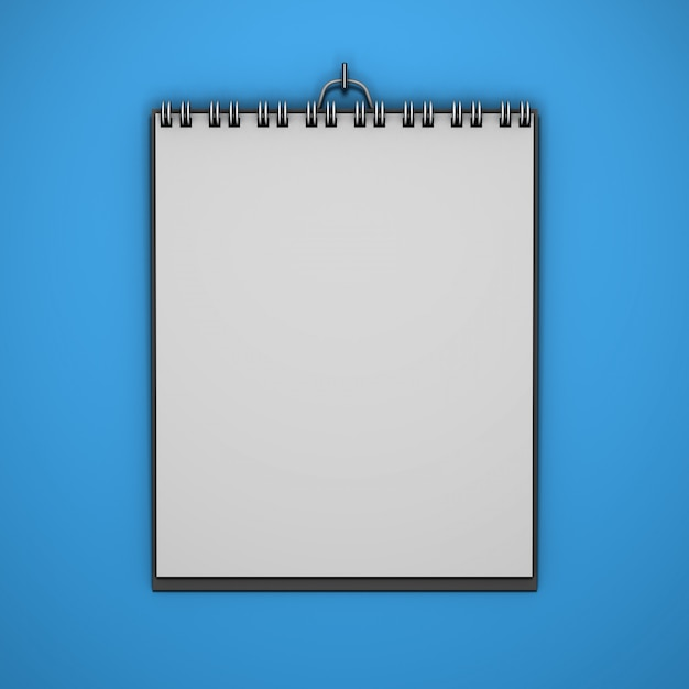 Maquete de calendário realista de suspensão com fundo de cor Psd grátis