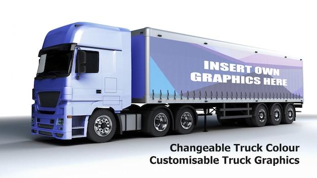 Maquete de caminhão editável Psd grátis