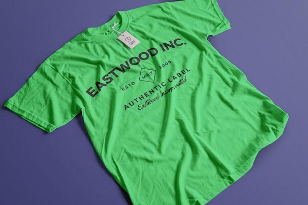 Maquete de camiseta de cor Psd grátis
