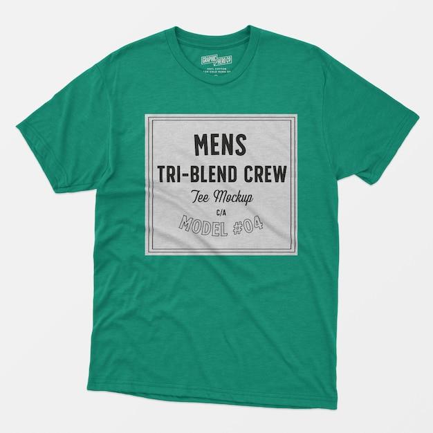 Maquete de camiseta tripulação para homem 04 Psd grátis