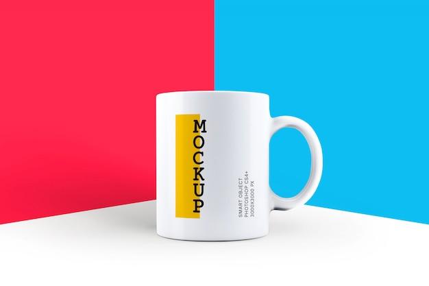 Maquete de caneca de café branco Psd Premium