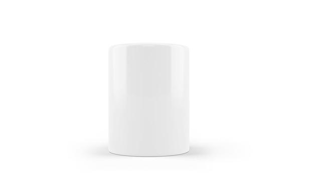 Maquete de caneca de cerâmica branca isolada Psd grátis