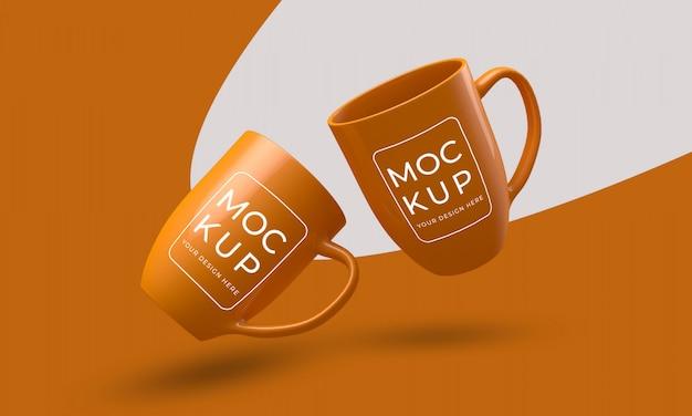 Maquete de caneca de xícara de café Psd Premium