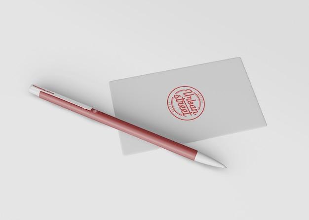 Maquete de caneta para merchandising Psd grátis