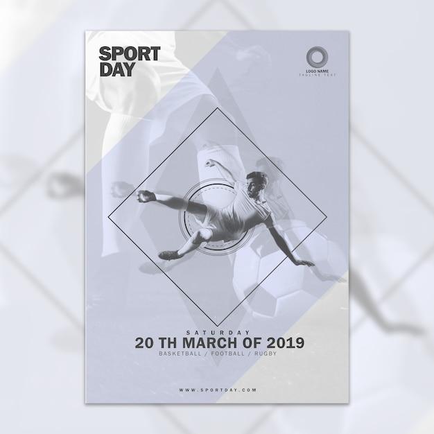 Maquete de capa abstrata com conept esportes Psd grátis