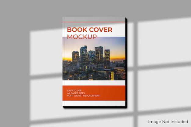 Maquete de capa de livro a4 com sombra Psd Premium
