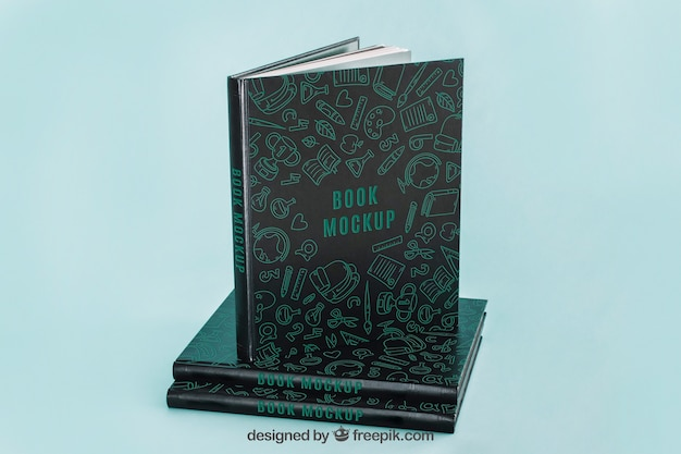 Maquete de capa de livro escuro Psd grátis