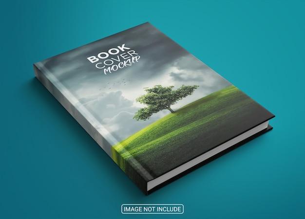 Maquete de capa de livro minimalista com vista lateral Psd Premium