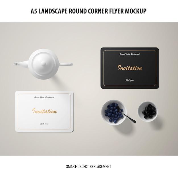 Maquete de cartão de convite Psd grátis