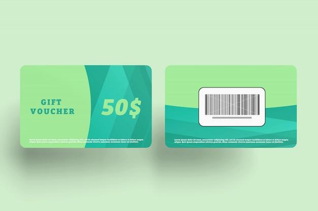 Maquete de cartão de crédito Psd Premium