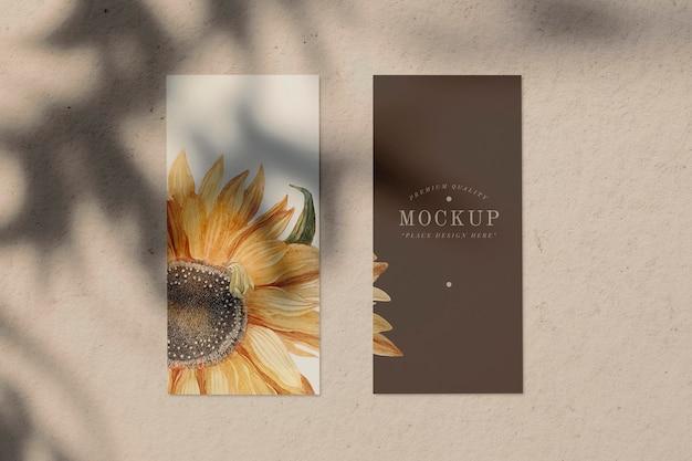 Maquete de cartão de menu de design de girassol Psd grátis