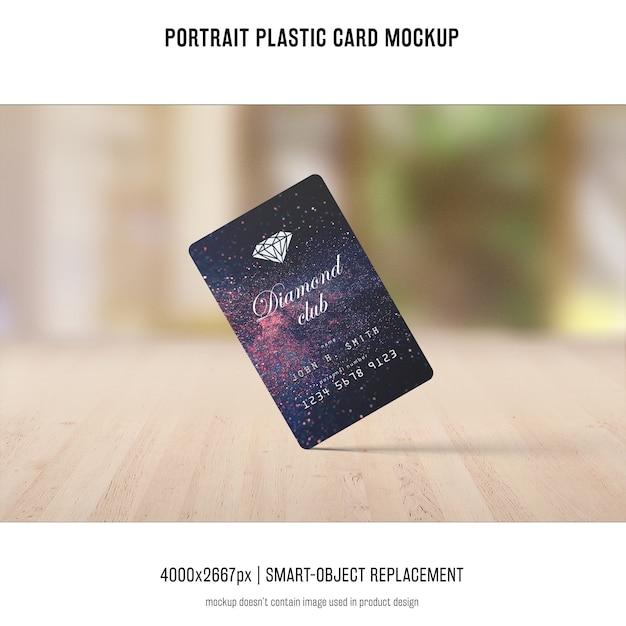 Maquete de cartão de plástico retrato Psd grátis