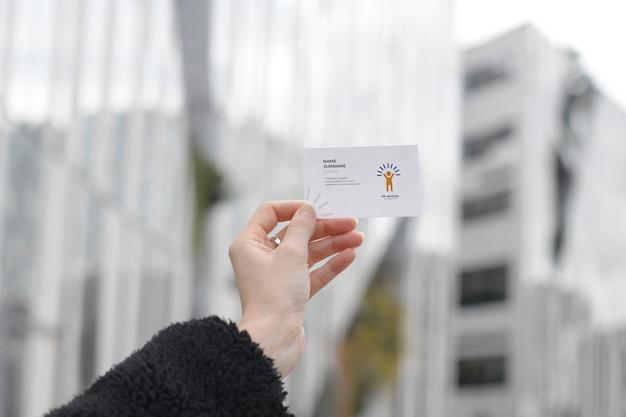 Maquete de cartão de serviços de rh Psd Premium
