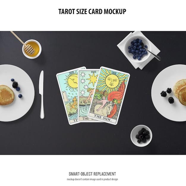 Maquete de cartão de tarô Psd grátis