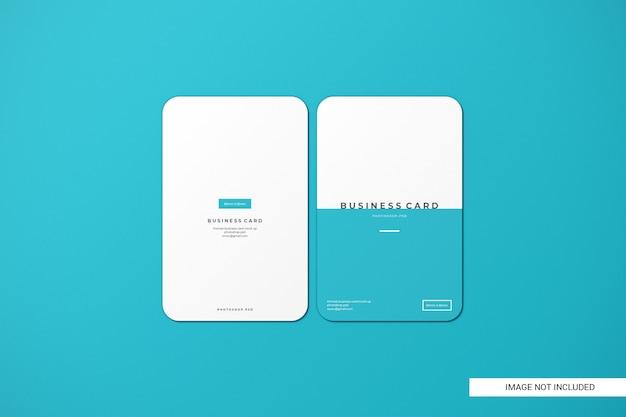 Maquete de cartão de visita arredondada Psd Premium