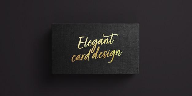 Maquete de cartão de visita com efeito de texto de folha de ouro Psd Premium