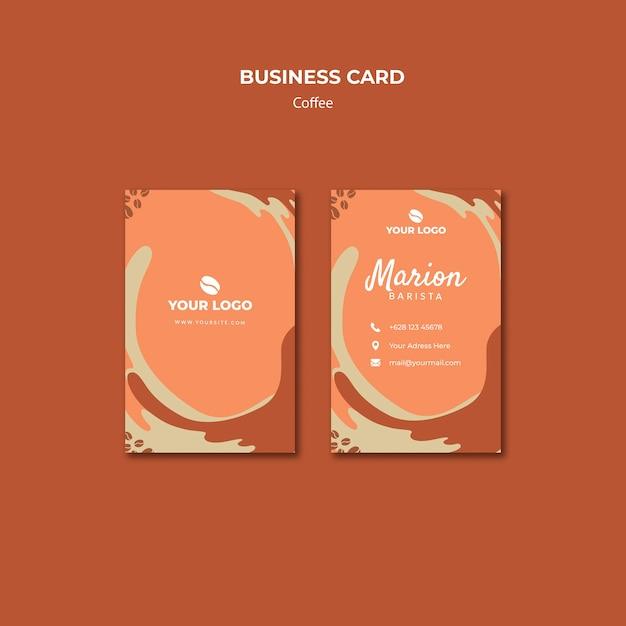 Maquete de cartão de visita conceito café Psd grátis