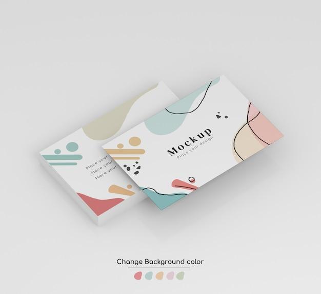 Maquete de cartão de visita de negócios mínima isométrica em wad e isolado. Psd grátis