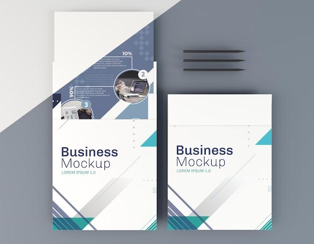 Maquete de cartão de visita e lápis pretos Psd grátis