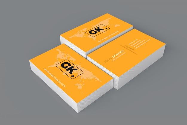 Maquete de cartão de visita em branco. renderização em 3d Psd Premium