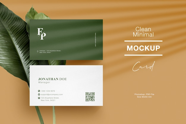 Maquete de cartão de visita mínima limpa Psd Premium