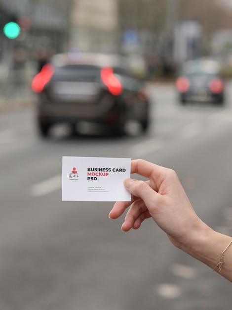 Maquete de cartão de visita moderno líder de equipe Psd Premium