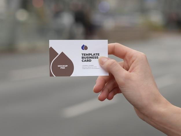 Maquete de cartão de visita moderno Psd Premium
