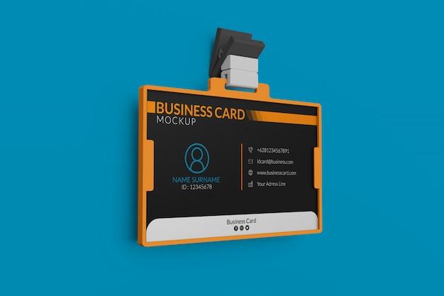 Maquete de cartão de visita no titular da identificação Psd Premium