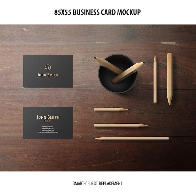 Maquete de cartão de visita Psd grátis