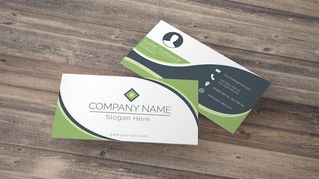 Maquete de cartão em estilo eco Psd grátis