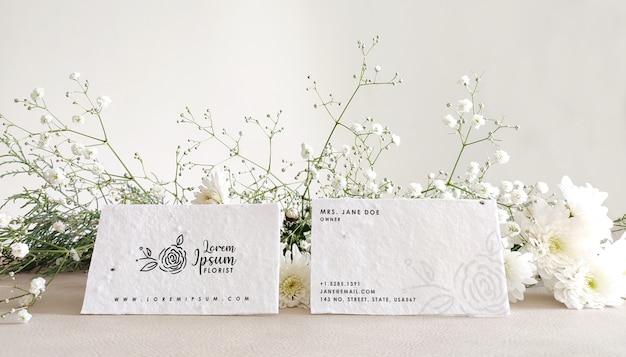 Maquete de cartão floral Psd Premium