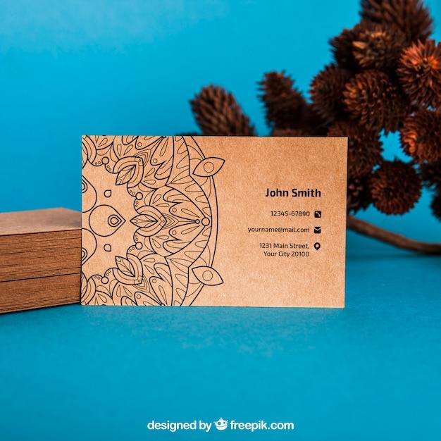 Maquete de cartão orgânico Psd grátis