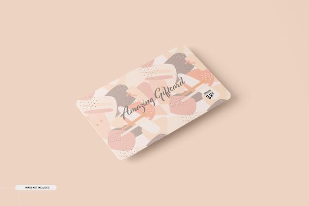 Maquete de cartão-presente Psd grátis