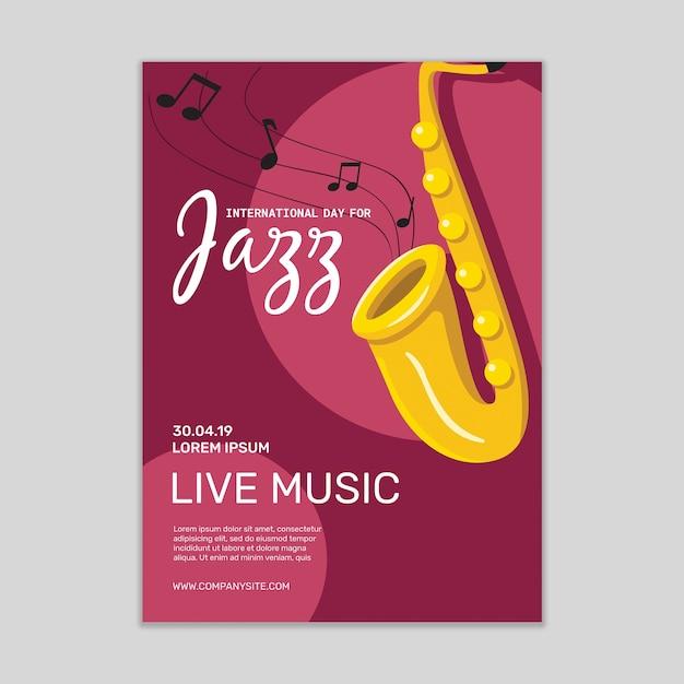 Maquete de cartaz de música jazz Psd grátis