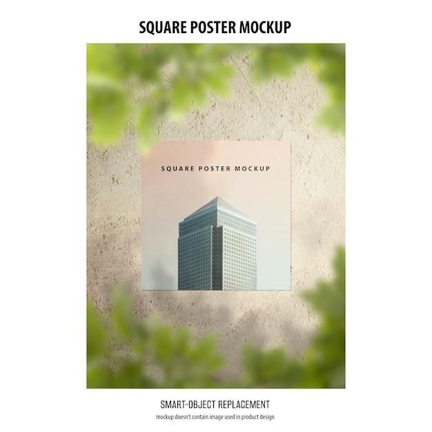 Maquete de cartaz quadrado Psd grátis