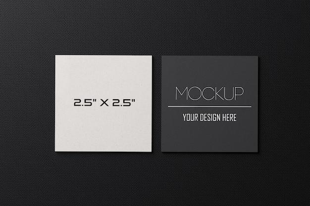 Maquete de cartões de papel quadrado Psd Premium