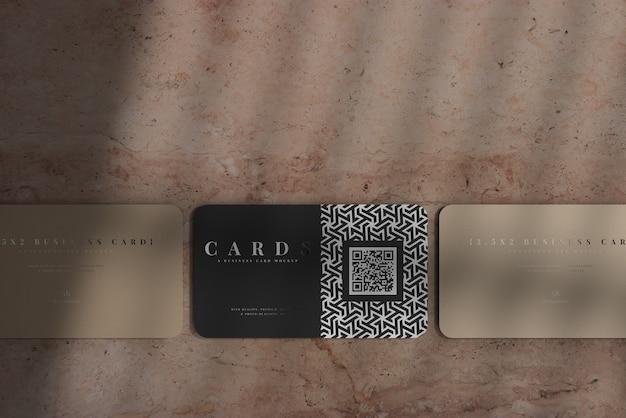 Maquete de cartões de visita com cantos arredondados Psd grátis