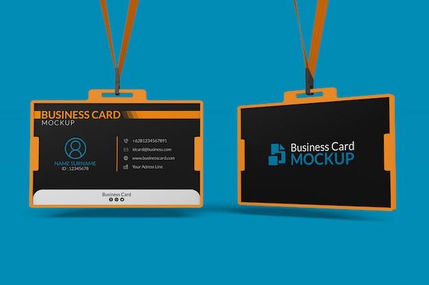 Maquete de cartões de visita no titular da identificação Psd Premium