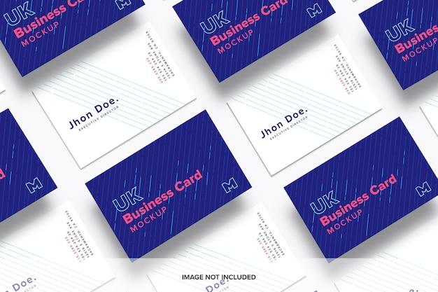 Maquete de cartões de visita Psd Premium