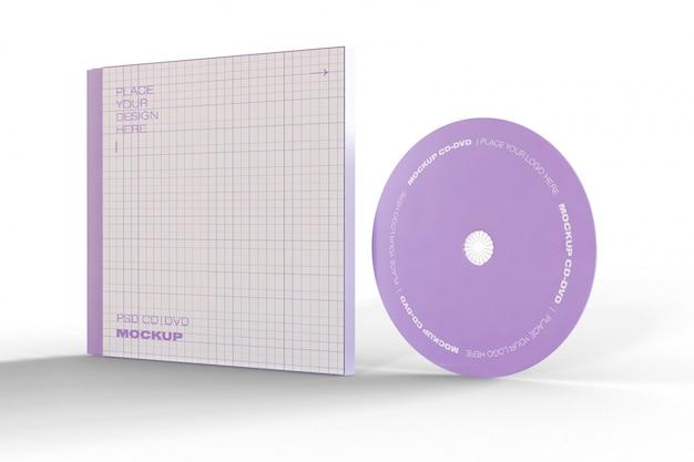 Maquete de cd e estojo Psd grátis