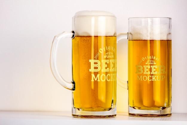 Maquete de cerveja Psd grátis