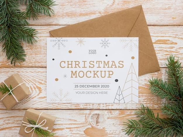 Maquete de composição de elementos de véspera de natal Psd grátis