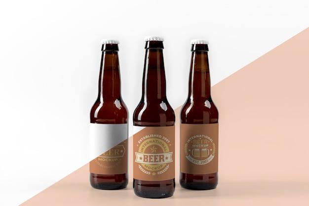 Maquete de conceito de arranjo de cerveja artesanal Psd Premium
