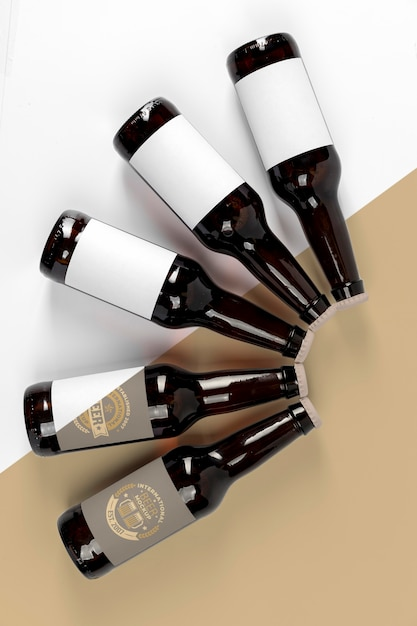 Maquete de conceito de arranjo de cerveja artesanal Psd grátis